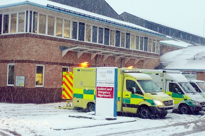 The emergency department in a snow storm