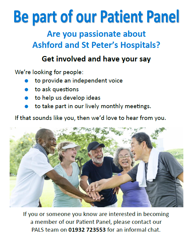 Be part of our patient panel