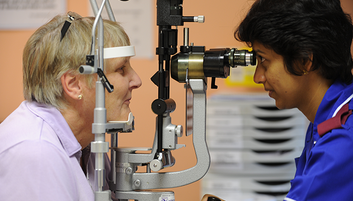 At an eye test