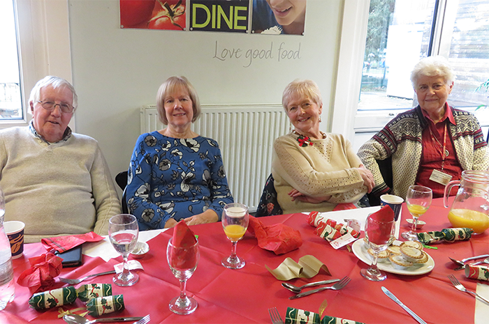 At the Christmas lunch