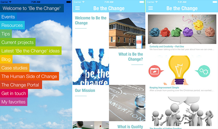 Be the Change mobile application