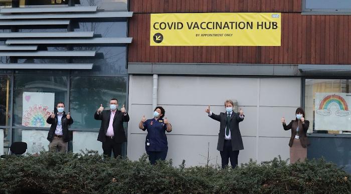 Vaccination Hub at Chertsey House