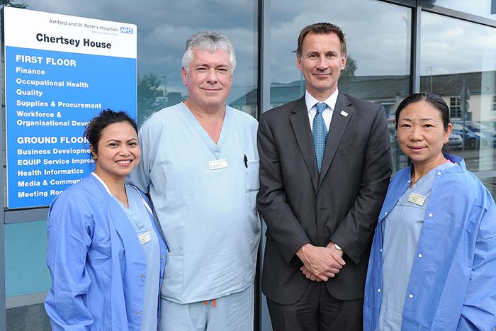 Jeremy Hunt MP with staff