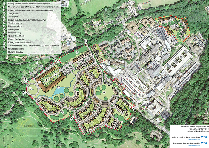 Map of the redevelopment site